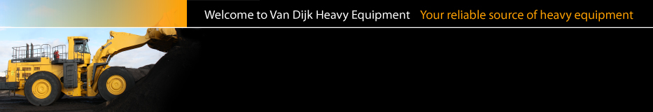 Van Dijk Heavy Equipment, your reliable source of heavy equipment